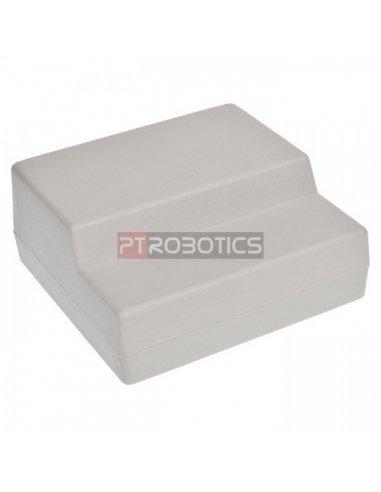 Caixa Poliestireno 125x120x53mm - Cinza Claro