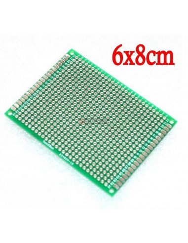 PCB Universal para Prototipagem de Dupla Face 6x8cm