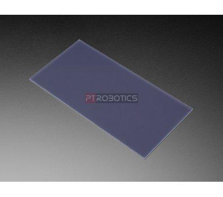 """Painel Acrílico de Matriz de LedBlack LED Diffusion Acrylic Panel - 10.2"""" x 5.1"""" - 0.1"""" / 2.6mm thick"""
