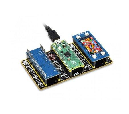 Kit de Desenvolvimento Raspberry Pi Pico (Tipo B) - Pico + LCD + IMU + Expansor GPIO