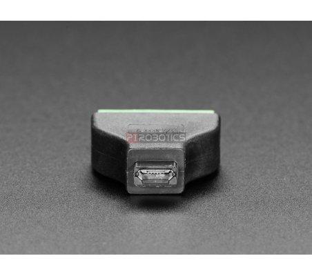 Adaptador Micro USB B Fêmea para Bloco Terminal 5 Pinos