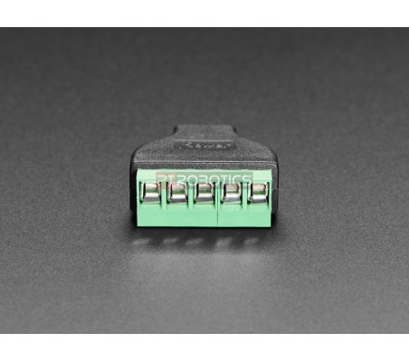 Adaptador Micro USB B Macho para Bloco Terminal 5 Pinos