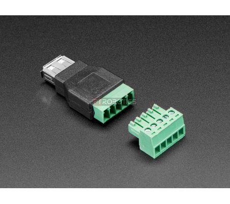 Adaptador USB A Fêmea para Bloco Terminal 5 Pinos