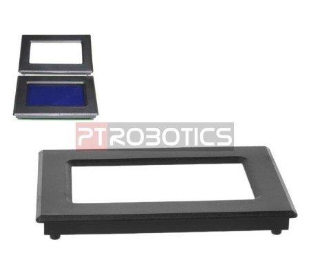 Moldura em ABS para LCD 128x64 - Preta