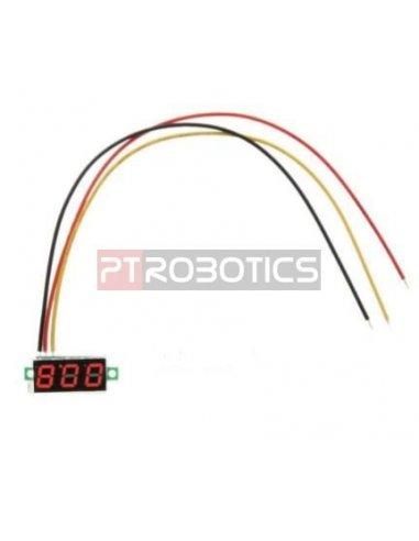 "Voltímetro LED Digital 0-100V 0.28"" - Vermelho"