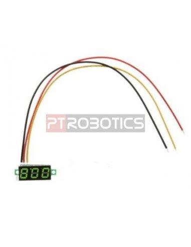 "Voltímetro LED Digital 0-100V 0.36"" - Verde"