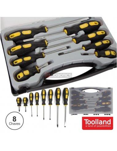 Conjunto de Chaves de Parafusos Toolland HST08 - 8 peças