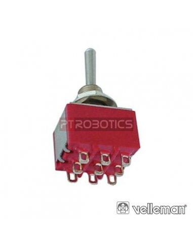 Interruptor Alavanca 3PDT On-Off-On