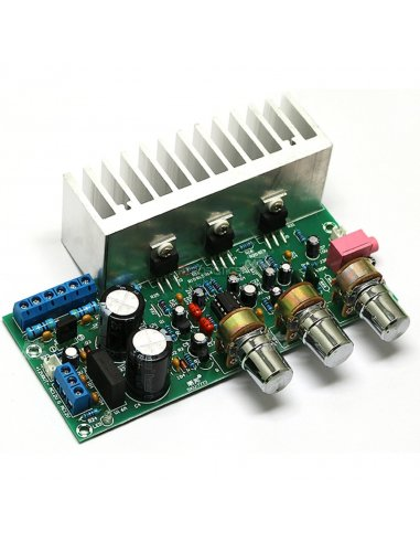 TDA2050+TDA2030 Módulo Amplificador de Potência Áudio Subwoofer c/ 3 Canais (2.1) 2x18W+32W