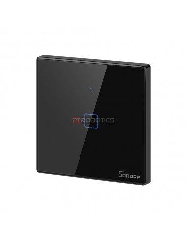Sonoff T3 EU: Série TX Interruptor de Encastrar com Controlo WiFi e RF Preto - 1 Gang