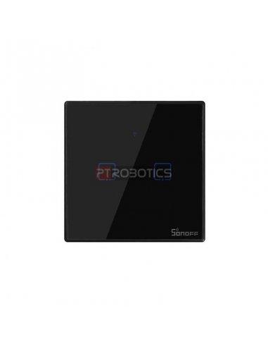 Sonoff T3 EU: Série TX Interruptor de Encastrar com Controlo WiFi e RF Preto - 2 Gang