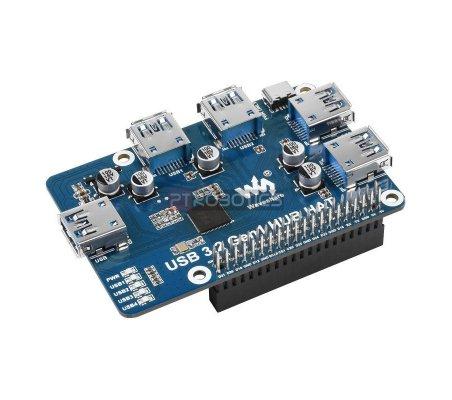 HAT Hub USB 3.2 Gen1 para Raspberry Pi 4