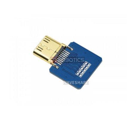 Cabo DIY HDMI: Ficha Adaptadora Mini HDMI Horizontal