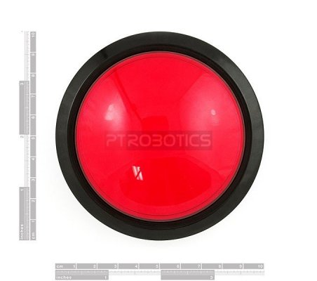 Big Dome Push Button - Red | Push Button |