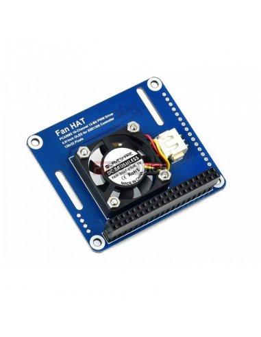 Waveshare HAT Ventoinha PWM, I2C e Sensor de Temperatura