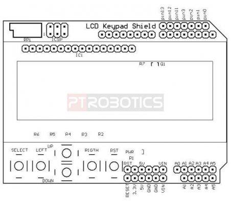 Arduino Keypad LCD Shield