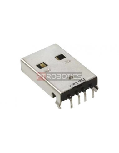 Conector USB A Macho para PCB