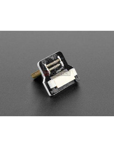 Cabo DIY HDMI: Ficha Adaptadora Micro HDMI 90º (L Bend)