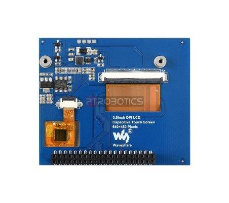 Ecrã IPS Tátil Capacitivo 3.5 Polegadas 640x480 DPI IPS de Baixo Consumo e Cobertura de Vidro Endurecido