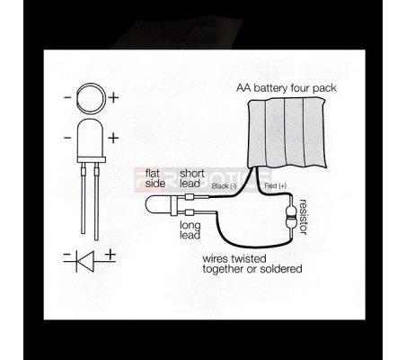 Kit Leds 5mm Laranja PTRobotics