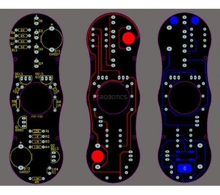 Kit de Eletrónica DIY - Fidget Spinner com Efeitos Luminosos