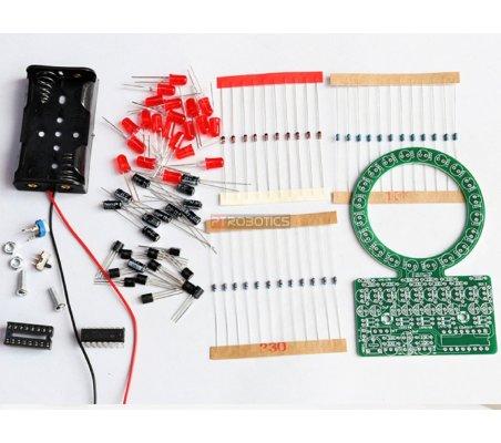 Kit de Eletrónica LED DIY - Roda de Luz