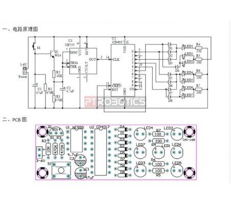 Kit de Eletrónica LED DIY - Dado Electrónico