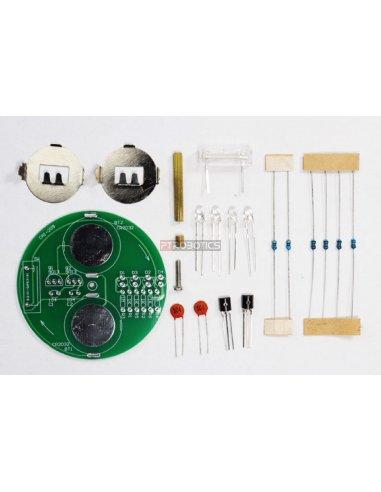 Kit de Eletrónica LED DIY - Pião Luminoso