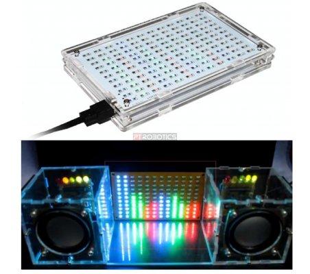 Kit de Eletrónica LED DIY - Display Colorido de Espectro Musical