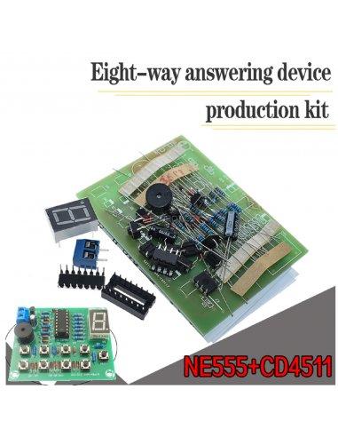 Kit de Eletrónica DIY - Quiz - Resposta Rápida com 8 Canais