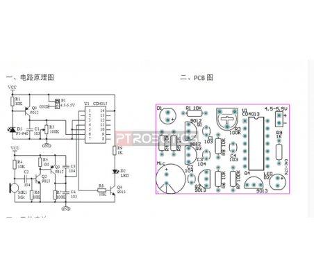 Kit de Eletrónica DIY - Vela Eletrónica com Controle por Sopro