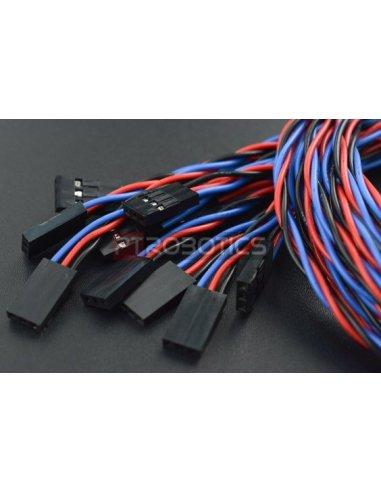 Gravity: Cabo para Sensor Analógico para Arduino - 50cm (Pacote de 10)