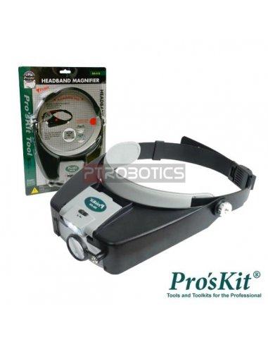Lupa de Cabeça c/ Iluminação a LED Pro'skit MA-016