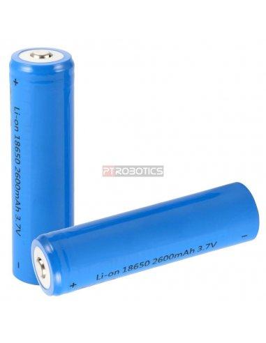Bateria de Lítio Recarregável 18650 - 3.7V 2600mAh