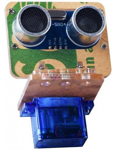 Suporte Pan & Tilt em Acrílico para Sensor Ultrassónico