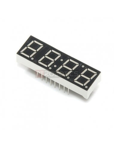 4-Digit 7-Segment Display - White | Display 7 segmentos |