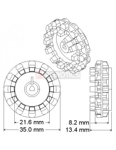 Pololu 30T Track Set   Lagartas  