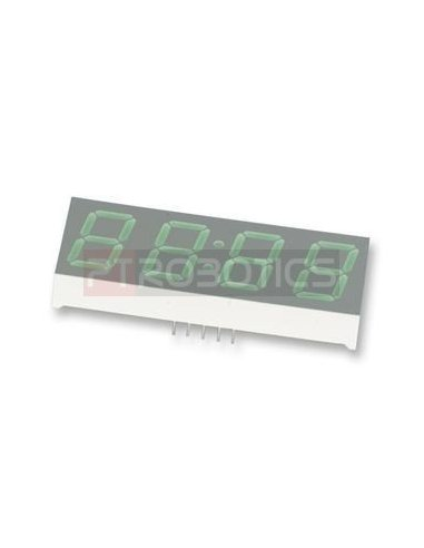 HDSP-B04E - 4-Digit 7-Segment Display 0.56 - Vermelho   Display 7 segmentos  
