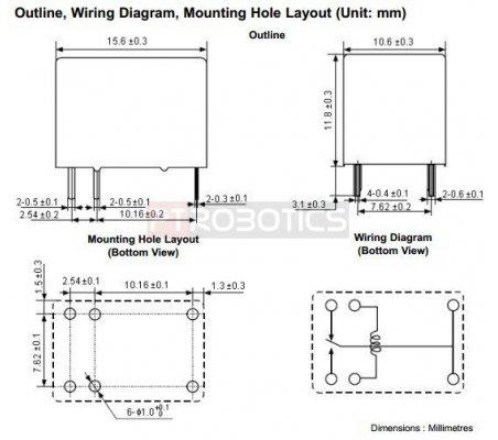 Relay SPST HRS1H-S Coil 5V | Relés |