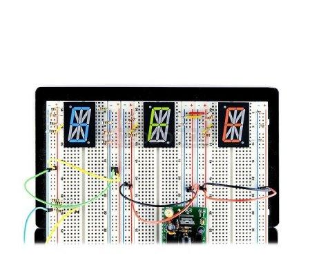 1.0 Single Digit Alphanumeric Display - Blue   Matriz de Led  