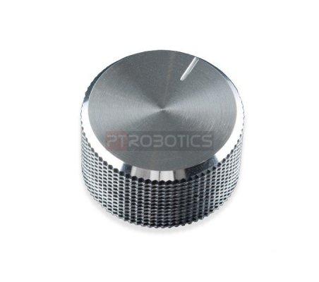 Silver Metal Knob - 14x24mm