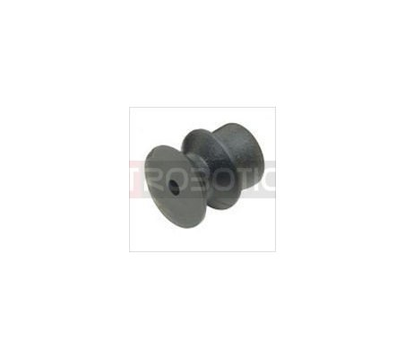 Plastic Pulley 12mm for 2mm Shaft | Hub's e Suportes |