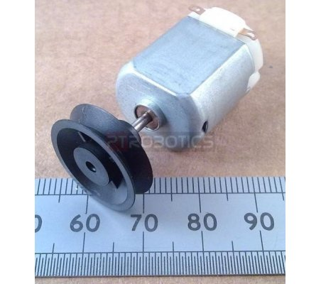 Plastic Pulley 25mm for 2mm Shaft   Hub's e Suportes  