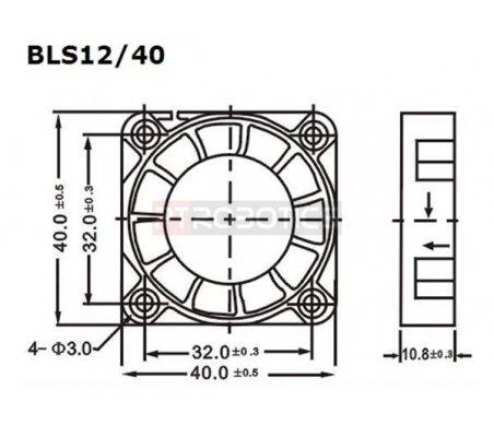 Ventoinha DC 40x40x10mm 12v 100mA | Ventoinhas |