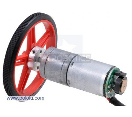 47:1 Metal Gearmotor 25Dx52L mm HP with 48 CPR Encoder