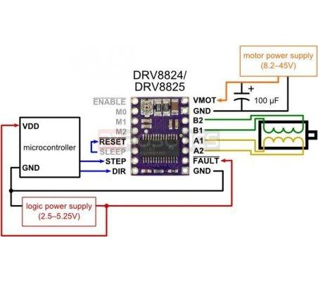 DRV8825 Stepper Motor Driver Carrier - High Current Pololu