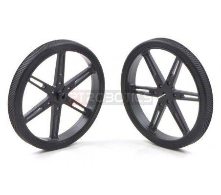 Pololu Wheel 80x10mm Pair - Black