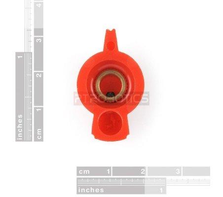 Red Chicken Head Knob - 14x20mm | Botões |