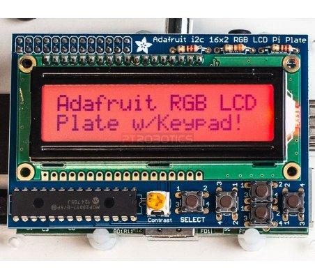 Adafruit RGB Positive 16x2 LCD+Keypad Kit for Raspberry Pi | LCD Alfanumerico |