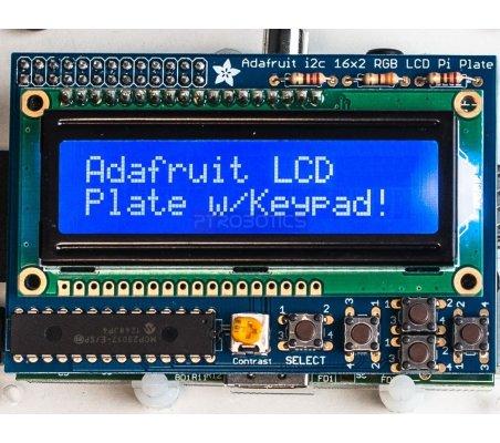 Adafruit Blue&White 16x2 LCD+Keypad Kit for Raspberry Pi | LCD Alfanumerico |